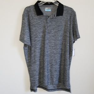 PGA TOUR Men's Black/Gray Heathered Golf Shirt